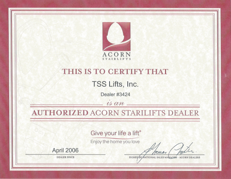 Acorn Certificate